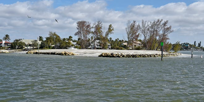 Snake Island at the end of Venice Inlet, which is a haven for area boaters, is now open. In mid-September it was closed so the West Coast Inland Navigation District could dredge Lyons Bay and place sand and rock on the island.