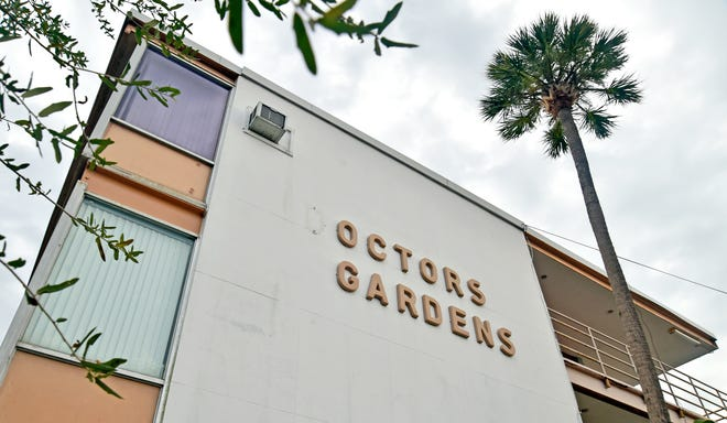 Doctors Gardens is a 1950s-era building, now vacant, on the Sarasota Memorial Hospital campus that has been slated for demolition for several years.