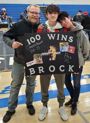 Shawnee Heights junior Brock Ferguson picked up his 100th career win last week.
