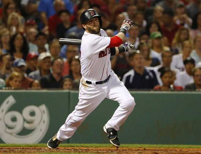 Dustin Pedroia gave it his all while in a Red Sox uniform.