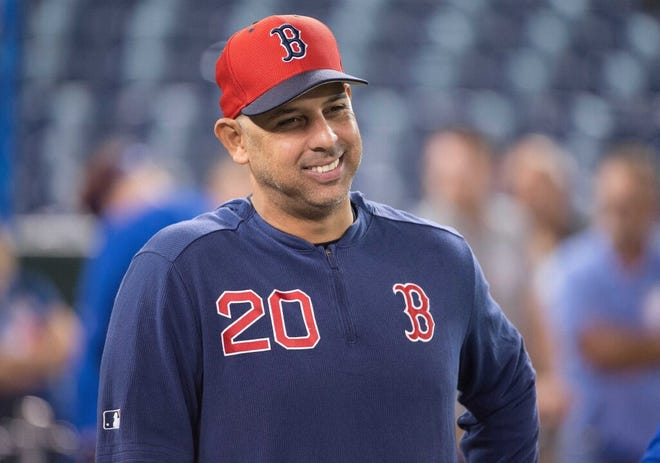 Red Sox manager Alex Cora, once a backup to Dustin Pedroia at second base, now must help find future production at the position.