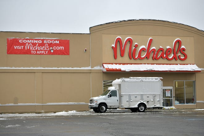 The Coming Soon sign on Michaels Tuesday at Lincoln Plaza.