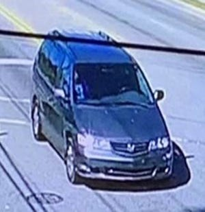 Police say a man and his girlfriend left the scene of a shooting in this van. [Contributed photo]