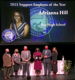 Adrianna Hill recently was recognized as the Bay District Schools Support Employee of the Year for 2021.
