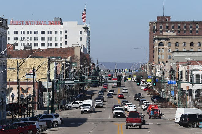 Downtown Fort Smith is seen Tuesday, Feb. 2, 2021.