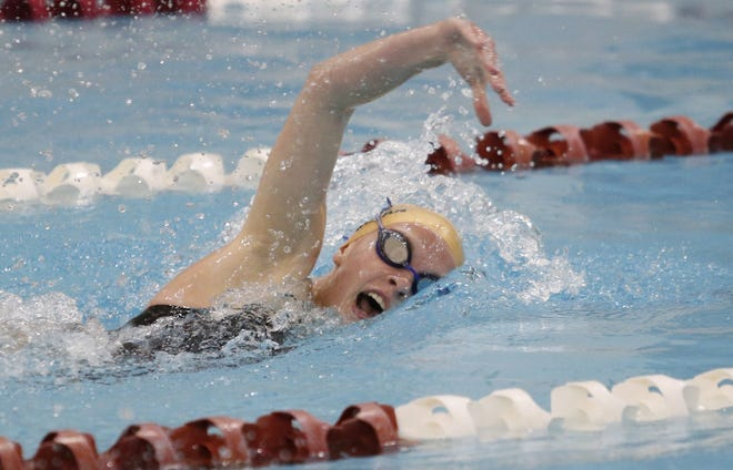 Junior Molly Shanahan and the Watterson girls compete in a Division I sectional Feb. 12 at Upper Arlington. The Eagles won the CCL meet Jan. 30 at St. Charles.