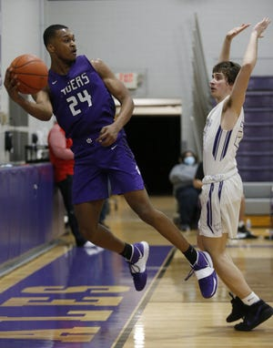 """Zakai Alexander, a 6-foot-4 senior forward, has sparked the Central boys basketball team this season on offense and defense. """"Zakai is the kind of guy who just does everything well,"""" teammate Sonny Styles said."""