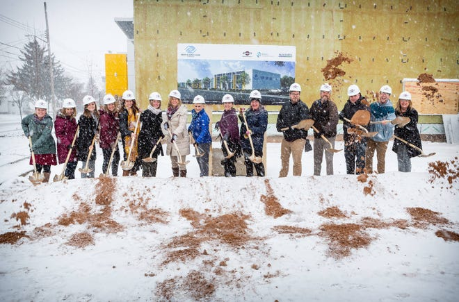 The Boys and Girls Clubs of Menasha staff broke ground in November 2019 for their building's expansion.