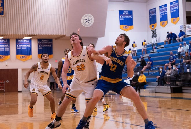 Texas A&M-Kingsville junior forward Will Chayer was named Lone Star Conference Defensive Player of the Week on Monday, Feb. 1, 2021.