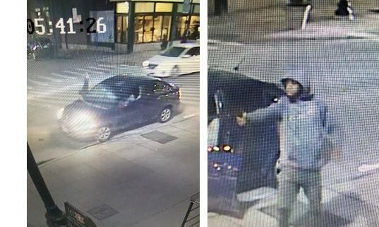 Cincinnati police are trying to identify a man they say fired seven shots in Over-the-Rhine, injuring one person, before fleeing in a car on Jan. 30.