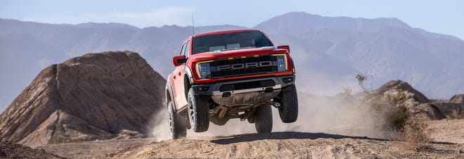 The 2021 Ford F-150 Raptor is known for its smooth flights through the air, and comfortable landing.