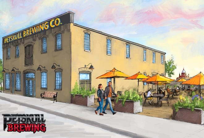 Rendition of the new PetSkull Brewing Co. site at 1015 Buffalo St. in downtown Manitowoc.