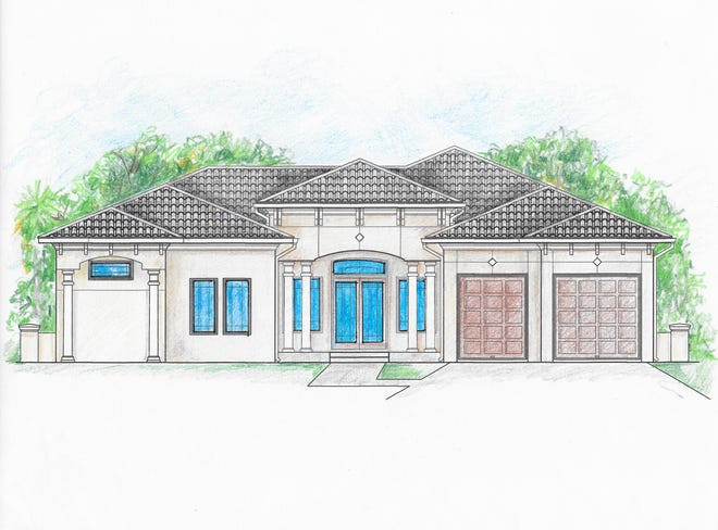 Cintron Custom Builders' custom home offers four bedrooms and three full bathrooms, 2,698 square feet of living space with a total of 3,882 square feet.