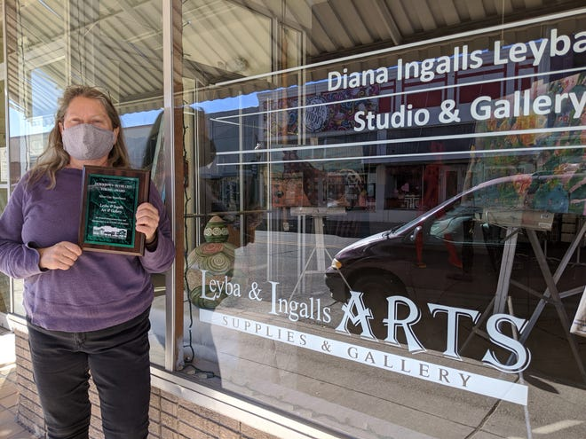 Diana Ingalls Leyba runs a studio and gallery in downtown Silver City.