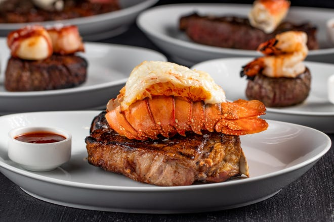 A surf & turf entree at STK Steakhouse.