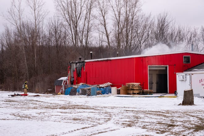 Multiple departments responded to a fire at Ilowski Sausage on St. Clair Highway Tuesday morning, Feb. 2, 2021, in China Township. No injuries were reported.