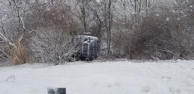 Firefighters responded to a crash on Interstate 83. Feb. 2, 2021.