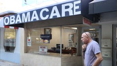 MIAMI, FLORIDA - JANUARY 28: A. Michael Khoury stands outside of his Leading Insurance Agency, which offers plans under the Affordable Care Act (also known as Obamacare) on January 28, 2021 in Miami, Florida. President Joe Biden signed an executive order to reopen the Affordable Care Act's federal insurance marketplaces from February 15 to May 15. (Photo by Joe Raedle/Getty Images) ORG XMIT: 775616570 ORIG FILE ID: 1299157647
