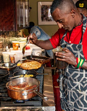 """Marcus Samuelsson's new book, """"The Rise,"""" features more than 50 Black chefs and culinary professionals whose varied experiences help readers understand the complexity of Black food, he says."""