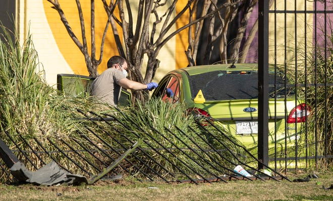 Police investigate a suspicious death on Anken Drive in Southeast Austin on Wednesday.