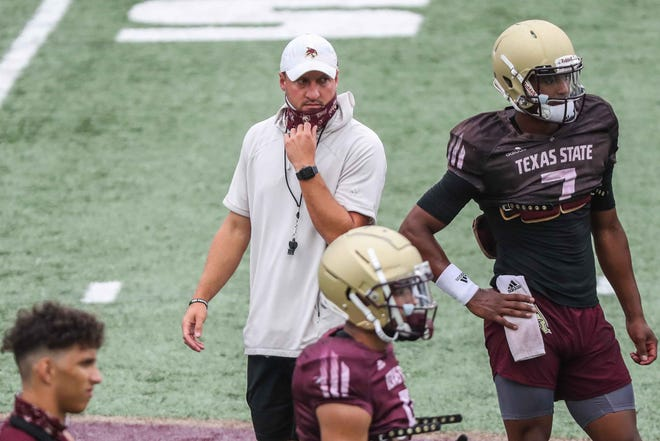 Texas State head football coach Jake Spavital's third season with the Bobcats is one month away; the team opens its fall preseason camp with practices on Friday.