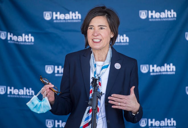 AU Health System CEO Katrina Keefer, on Feb. 3, spoke about the $2 million gift from Augusta National Golf Club for the COVID-19 vaccine effort in Augusta. At a meeting Thursday, AU Health's Board of Directors discussed the financial burden of battling the COVID-19 pandemic.