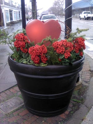 Hyannis Main Street is decked out in red for Valentine's shopping on Saturday, Feb. 13 from noon to 3 p.m.