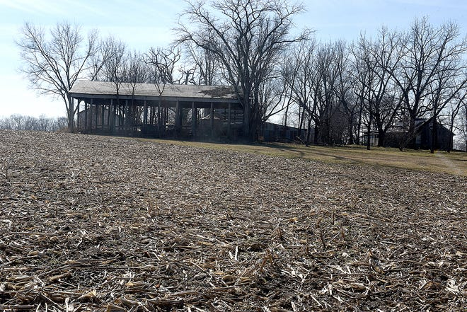 A house at 5008 Paris Road sits in a cornfield where Swift Prepared Foods is considering a building site for an Italian meats plant that would employ 251 full-time workers.