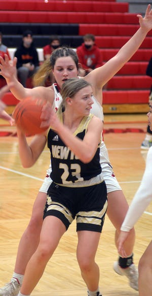 Newton sophomore Olivia Antonowich scored nine points in a 63-15 loss to third-ranked Maize. It was Newton's fifth game against a ranked opponent in the last six. Newton plays Friday at Hutchinson.