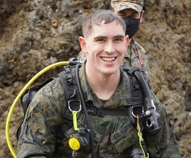 Derek Cornelius of La Junta, currently in Okinawa, Japan, recently advanced his U.S. Marines rank to staff sergeant.
