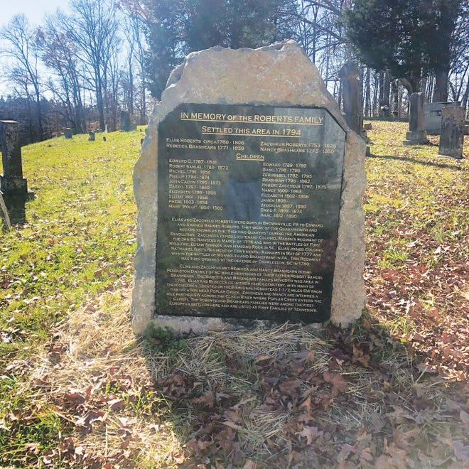 The Roberts Family Memorial Marker recently installed at the George Jones Memorial Baptist Cemetery by Ralph Martin.