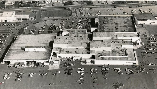 Undated: An overhead shot of the Twin City Mall.