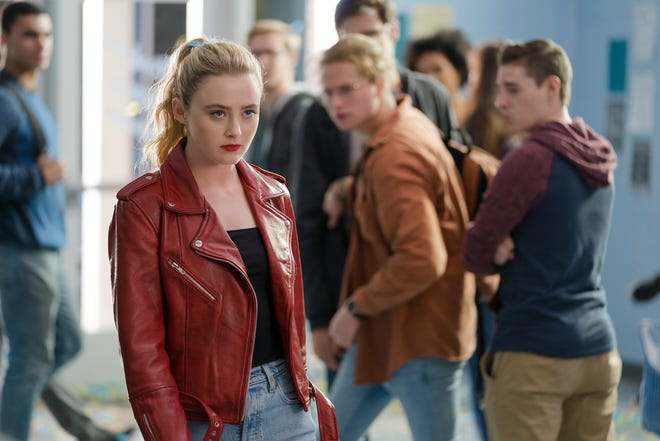 "Kathryn Newton stars as Millie whose body was switched with a serial killer in ""Freaky,"" co-written and directed by Christopher Landon."
