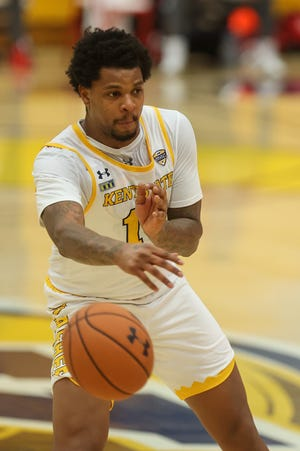 Senior forward Tervell Beck posted career highs of 19 points and 12 rebounds in Kent State's victory at Miami on Saturday.
