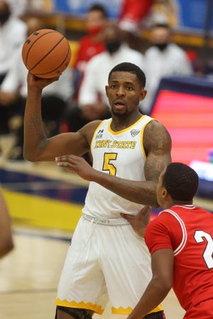 Kent State senior forward Danny Pippen scored 30 points in a home victory over Miami earlier this month. The two teams will meet again Saturday in Oxford.