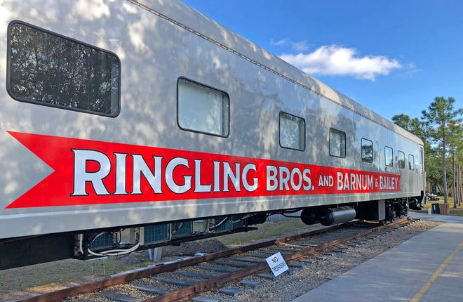 A restored sleeping car that once belonged to Ringling Bros. and Barnum & Bailey Circus was moved to the 1927 Historic Venice Train Depot last week, joining a restored caboose and statue of Gunther Gebel-Williams as part of a campus that pays homage to the city's connection with the fabled circus.