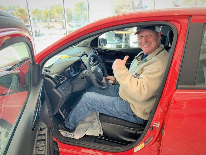 Greg Norris of Ash won a 2020 Chevy Spark in the Rotary Club of Shallotte's car raffle.