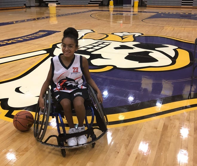 Greenville Learning Center sixth grader Ashlyn Mills was featured on a video clip during the TODAY show last September, which was shot at East Carolina University's Minges Coliseum.