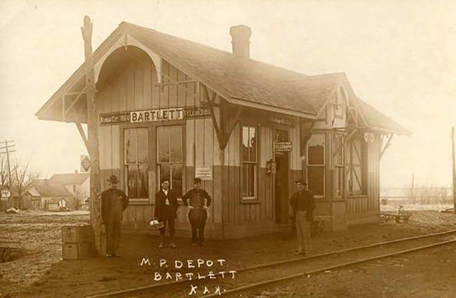 Train depot, Bartlett, Kansas