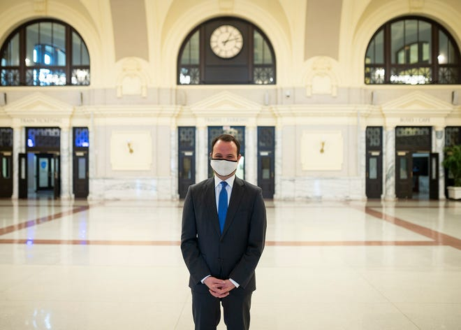 State Sen. Eric Lesser at Union Station