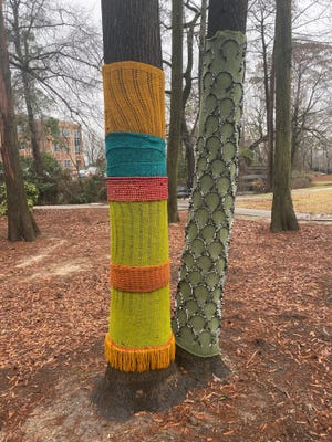 'InnerWoven' is a temporary art installment at Cross Creek at Linear Park.