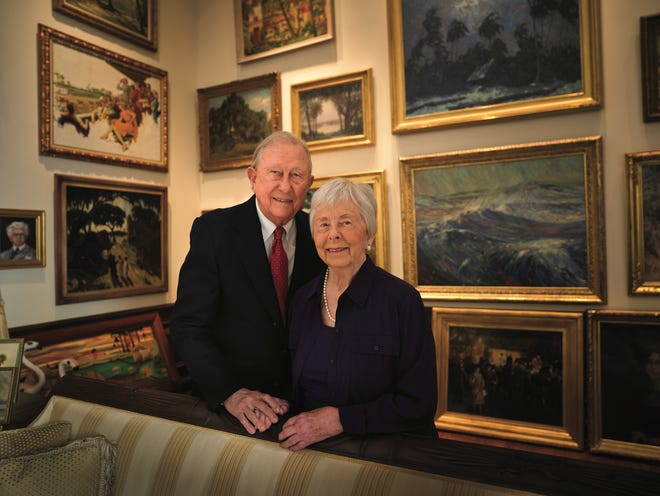 Samuel and Roberta Vickers donated a vast collection of Florida-centric artwork to the University of Florida's Samuel P. Harn Museum of Art. [Randy Batista]