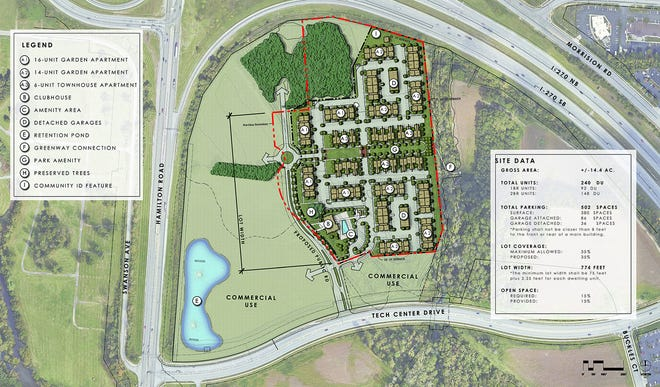 A new concept for Crescent at Central Park includes 50 acres of office/commercial uses, 40 acres of parks and open green space and nearly 15 acres of residential use. A public hearing on the plan will will be held at 7 p.m. Feb. 15.