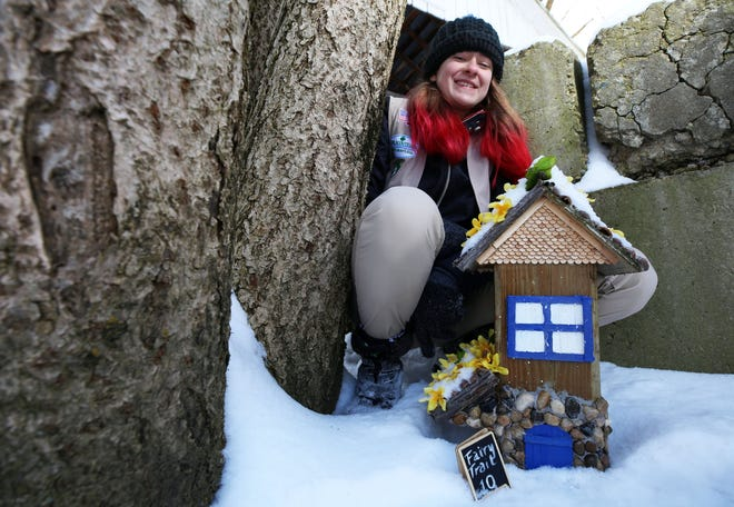 Pickerington Central freshman Eleanor Richardson, 15, created the Sycamore Creek Park Fairy Trail, which consists of 10 miniature homes around the park's pond, a walking trail and the arboretum. The project was for her Girl Scout Silver Award.