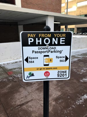 During a three-month trial, motorists must use the Passport Parking app to pay for parking at Soldiers Square in Appleton.