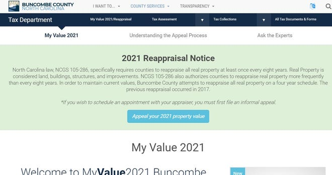 Buncombe County does have a property reappraisal going on now. The parameters for when they are necessary are controlled by state law.