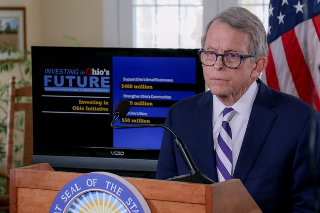 Ohio Gov. Mike DeWine's two-year state budget includes $10 million for body cameras for officers.