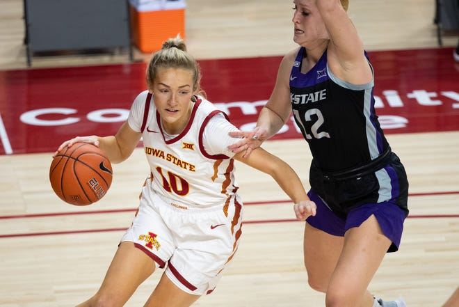 Kylie Feuerbach, who spent most of the 200-21 season as a starter for Iowa State, is transferring to Iowa.