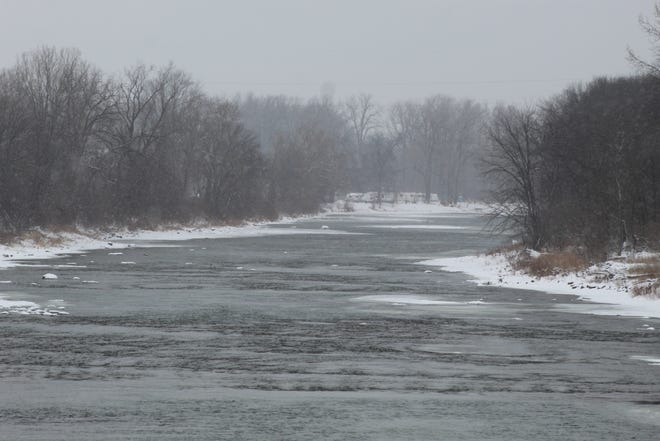 The Ohio Department of Natural Resources continues to study the Sandusky River, seen here from the Tindall Bridge in Ballville Township, following the 2018 removal of the Ballville Dam. ODNR started a three-year study on fish usage in 2019 that looks at fish usage above the former dam site and compares it to samples taken while the dam existed.