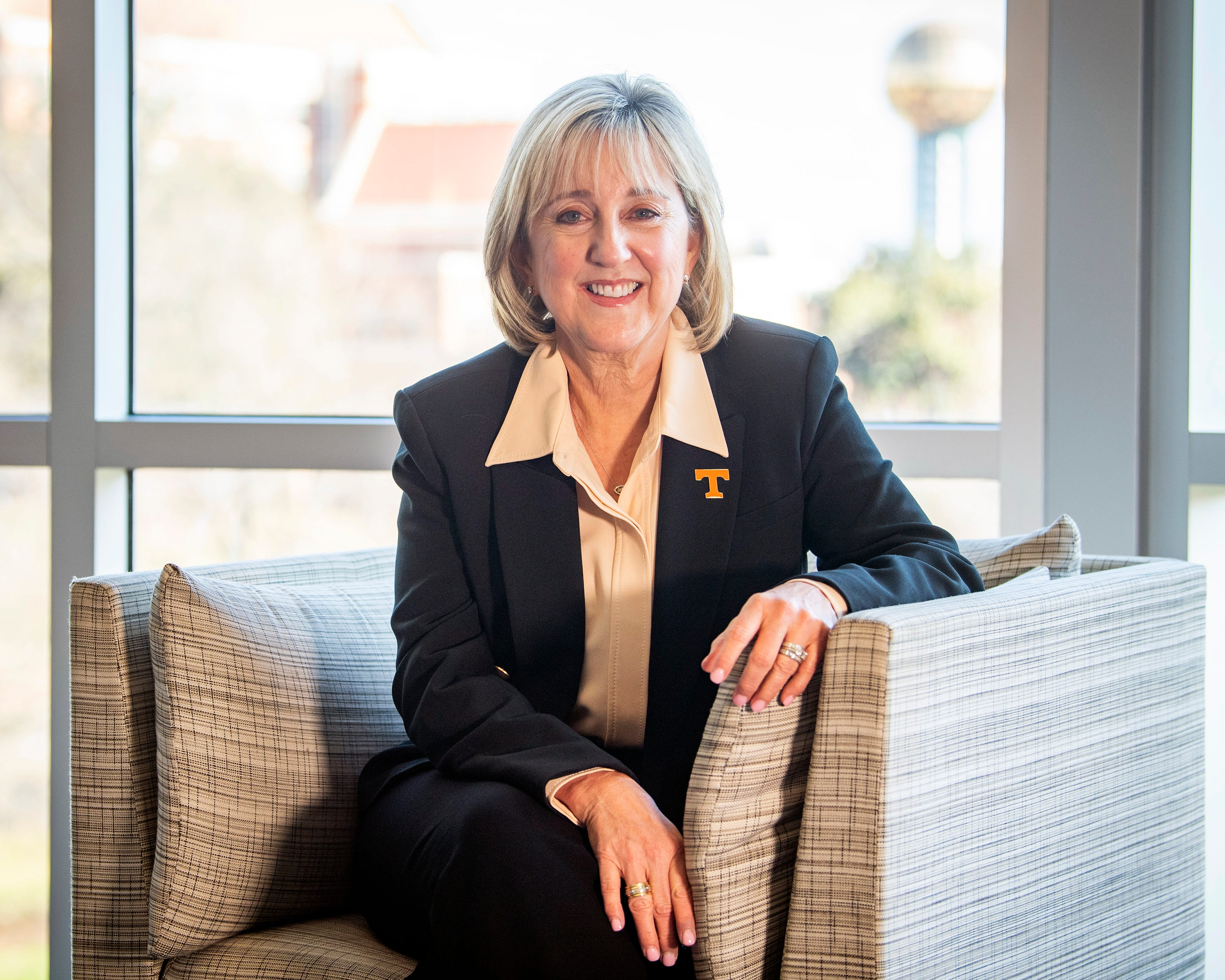 """Close associates of Donde Plowman talk about the loyalty she engenders. Amber Williams, the vice provost for student success at UT, followed Plowman to UT in early 2020. """"To see her in this role, and to see her progression over time, she's at her best here,"""" Williams said. """"She always says 'leadership is the willingness to act,' and I've seen her act, I've seen her transform, I've seen her cheer us on."""""""